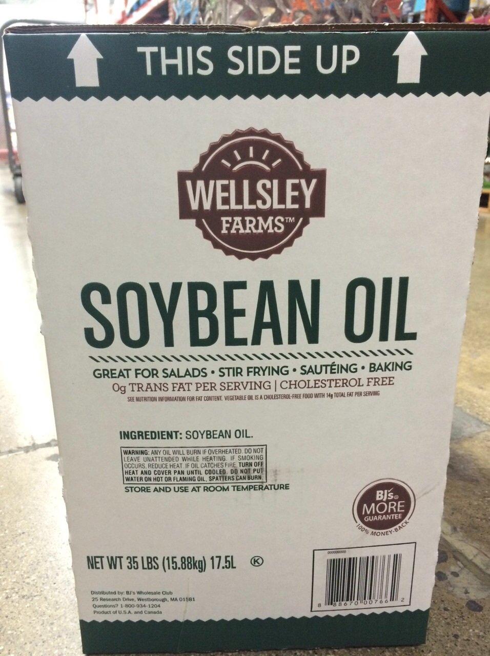SOYBEAN OIL WELLSLEY FARMS 35 POUNDS