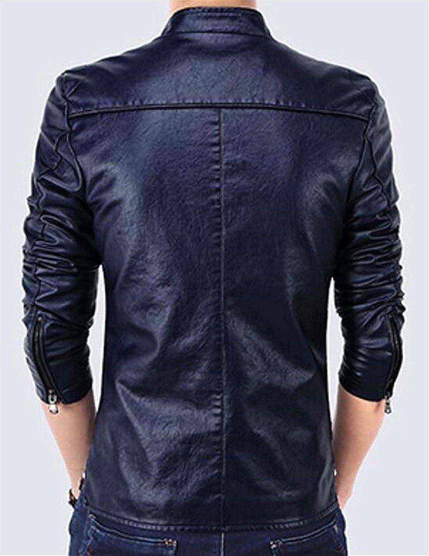 OnIn Mens Stylish Outwear Lightweight Faux Leather Jacket