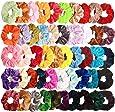 20 stuks haarelastiekjes fluweel haar scrunchies elastieken kleurrijke elastische haarbanden voor meisjes dames haaraccessoires