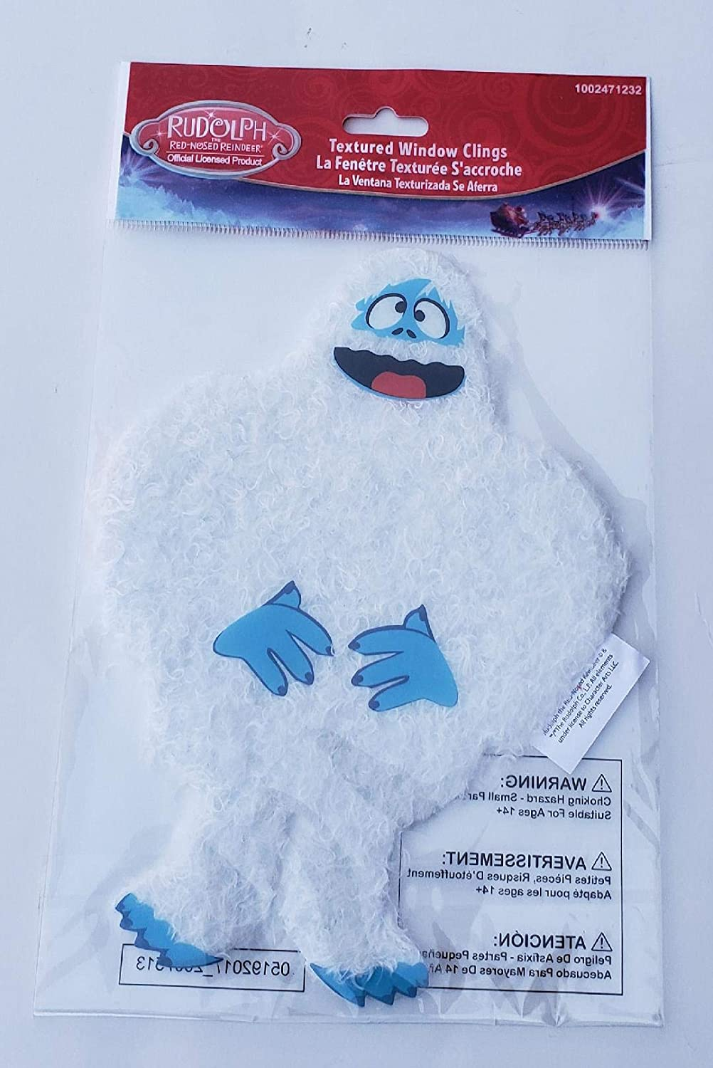 ProductWorks 8 Inch Rudolph The Red Nosed Reindeer Bumble The Abominable Snowman Textured Window Cling