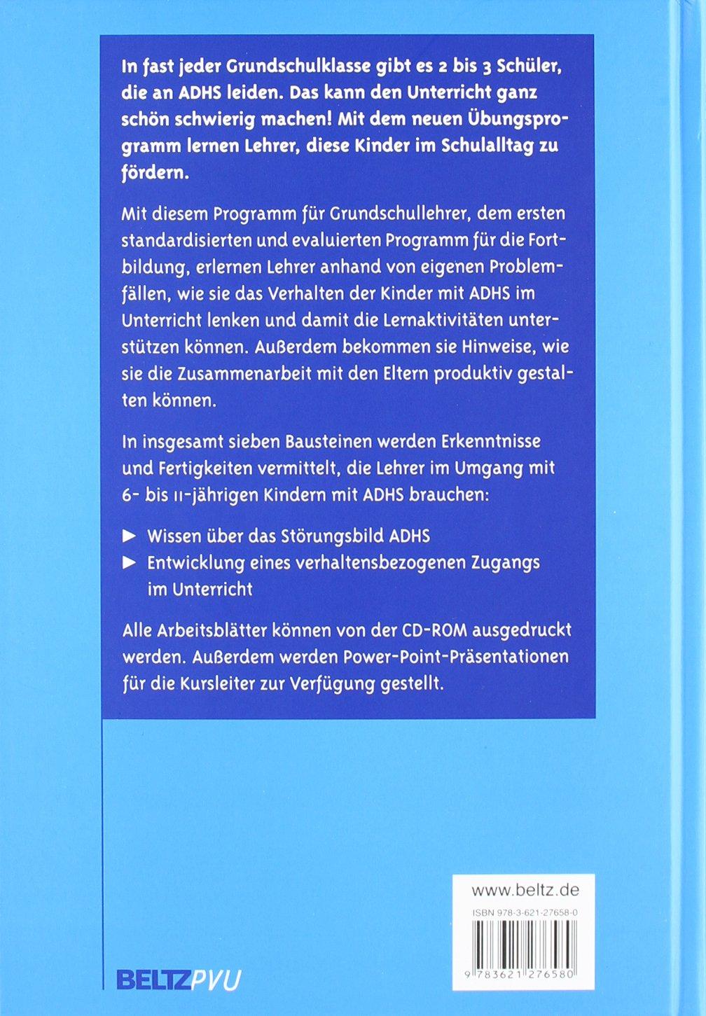 ADHS in der Schule: Übungsprogramm für Lehrer. Mit CD-ROM: Amazon.de ...