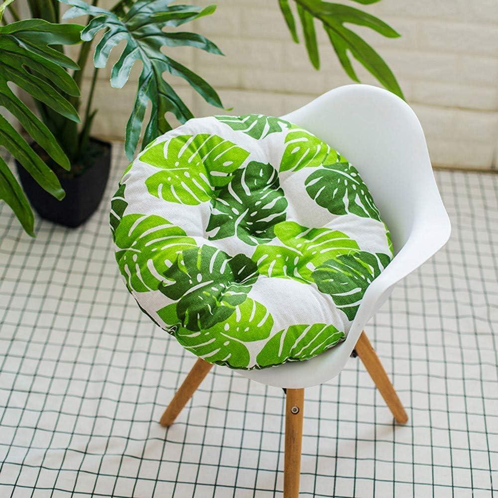 Ogquaton Coussin de chaise de salle /à manger confortable de qualit/é sup/érieure rond coussin de chaise de jardin de luxe pour le patio /à la maison en plein air avec la cravate