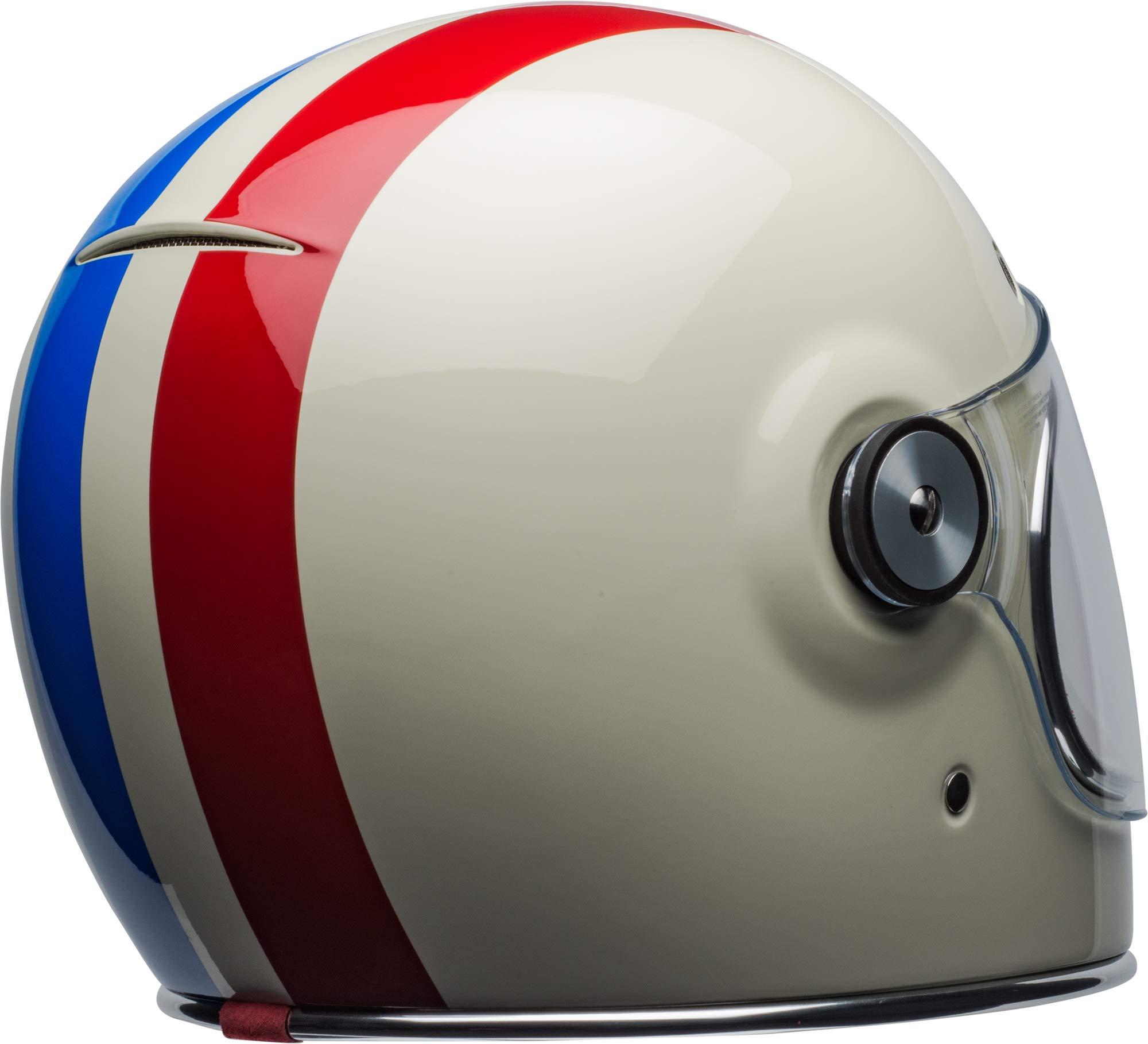 Bell Bullitt Helmet - Command (X-SMALL) (GLOSS VINTAGE WHITE/RED/BLUE) by Bell (Image #3)