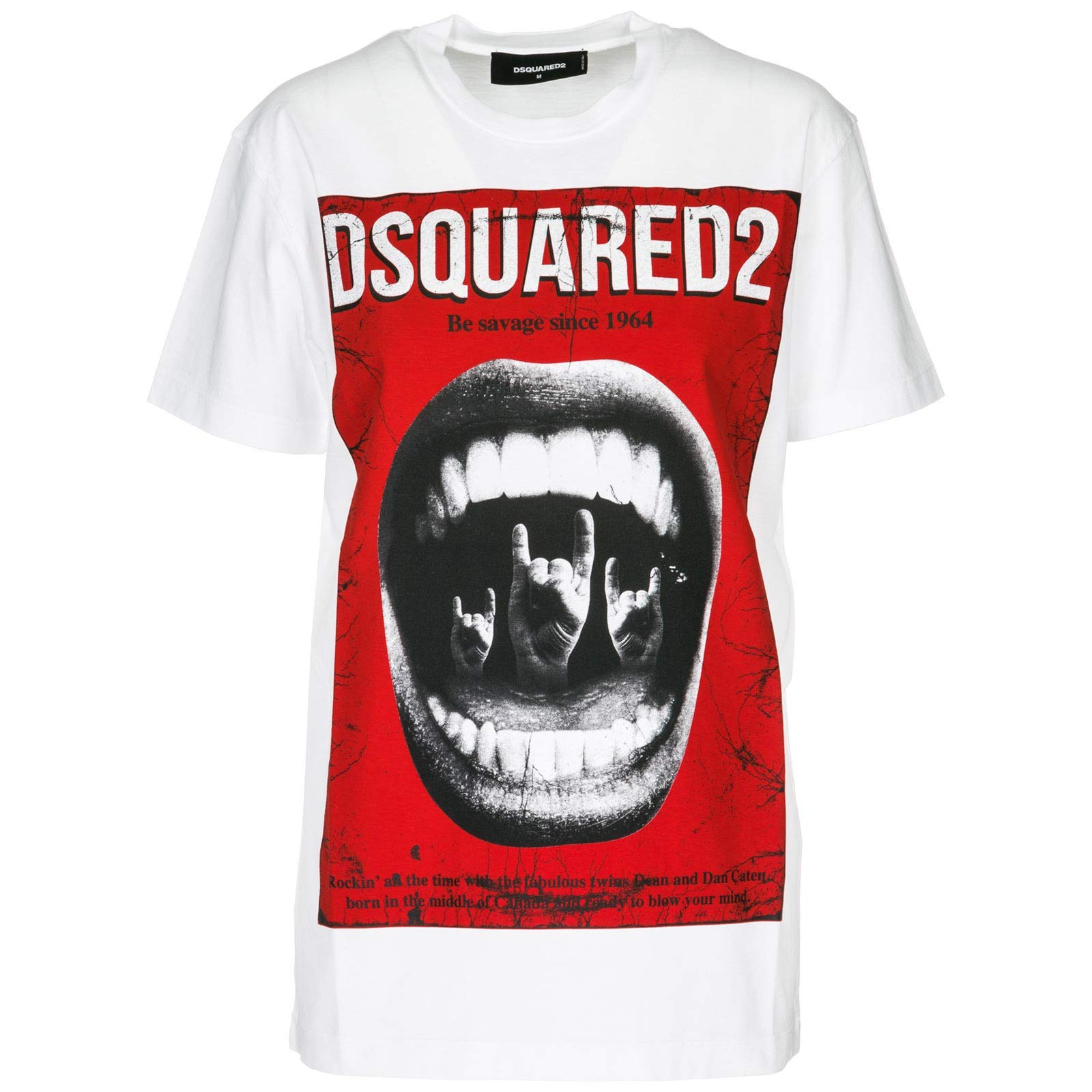 DSQUARED2 Men's Be Savage Cool Fit T-Shirt White Large