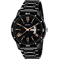 Matrix Day & Date Black Dial Watch for Boys & Men's (DD-53)