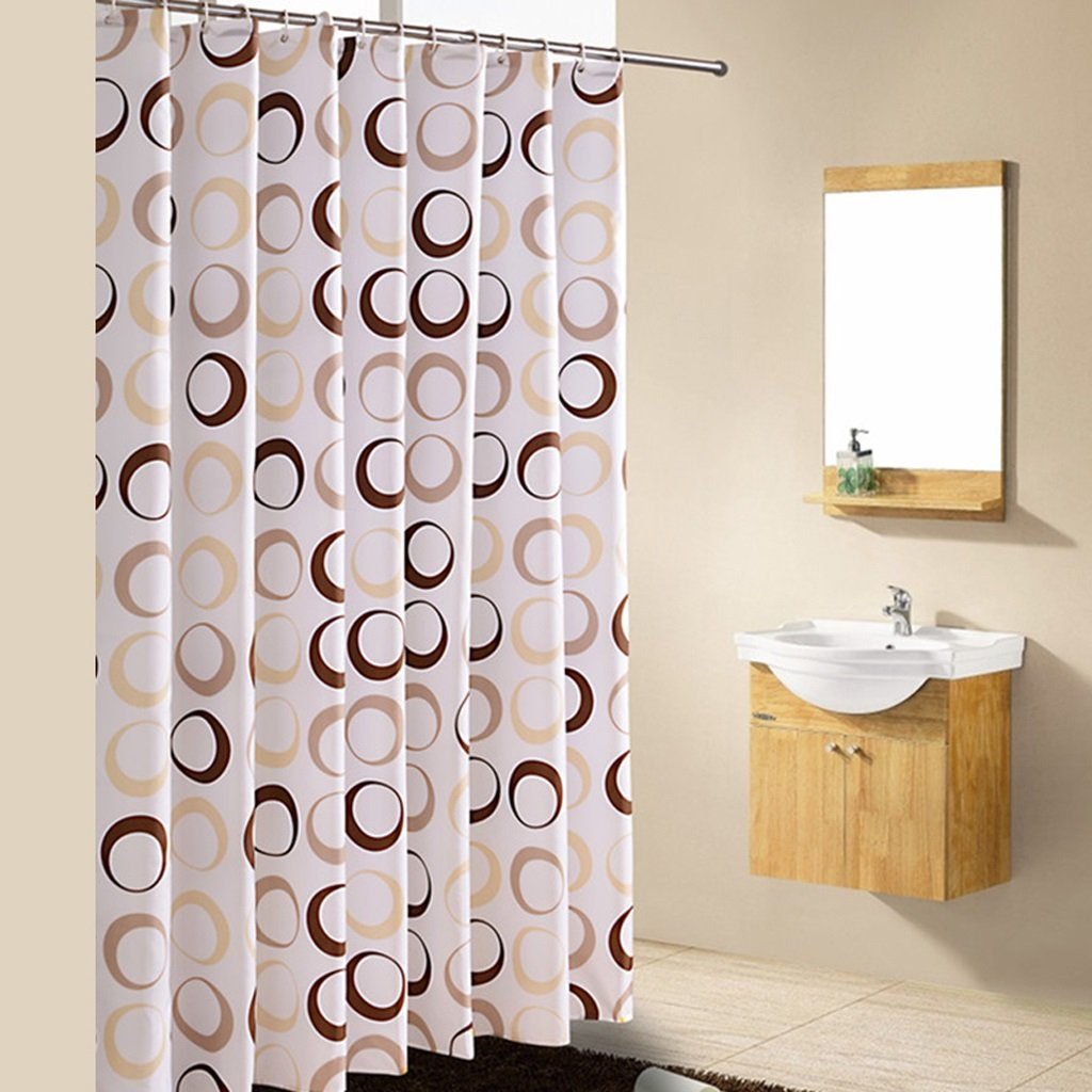 Curtain Shower Curtain, Thick Polyester Cloth Shower Curtain, Mildew Waterproof, Environmental Printing and Dyeing, The New Circle Curtain Shower Equipment (Size : 150200cm)