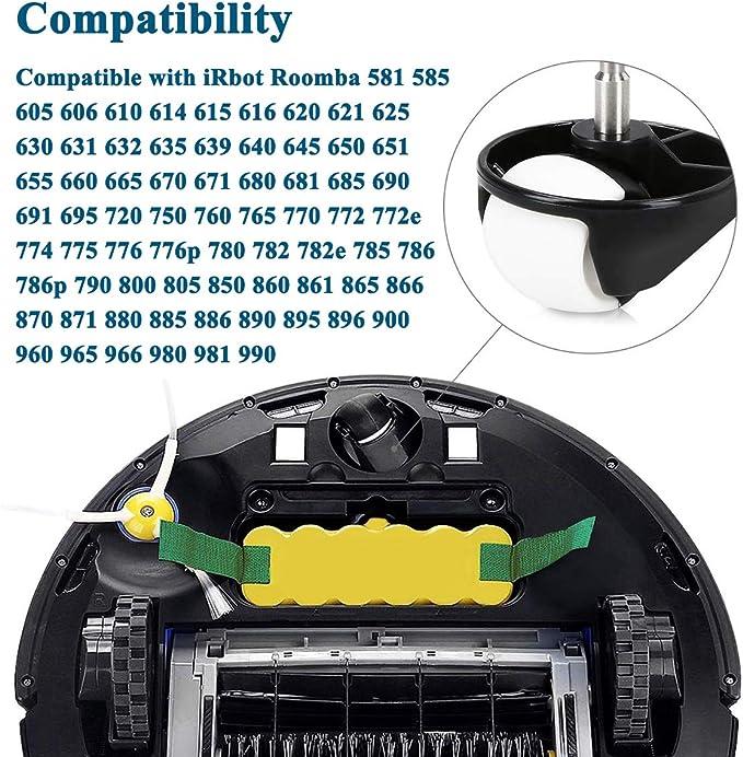 HoHome Accesorios para iRobot Roomba Serie (Rueda para roomba Series 500, 600, 700, 800 y 900): Amazon.es: Hogar