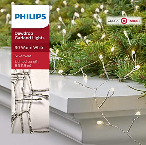 Amazon Com Phillips Philips 90ct Christmas Led Dewdrop Garland