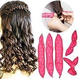 Pillow Hair Rollers No Heat, 30pcs Night Sleep Foam Hair Curler Rollers, Flexible Soft Hair Rollers, DIY Sponge Hair Styling Rollers Tools