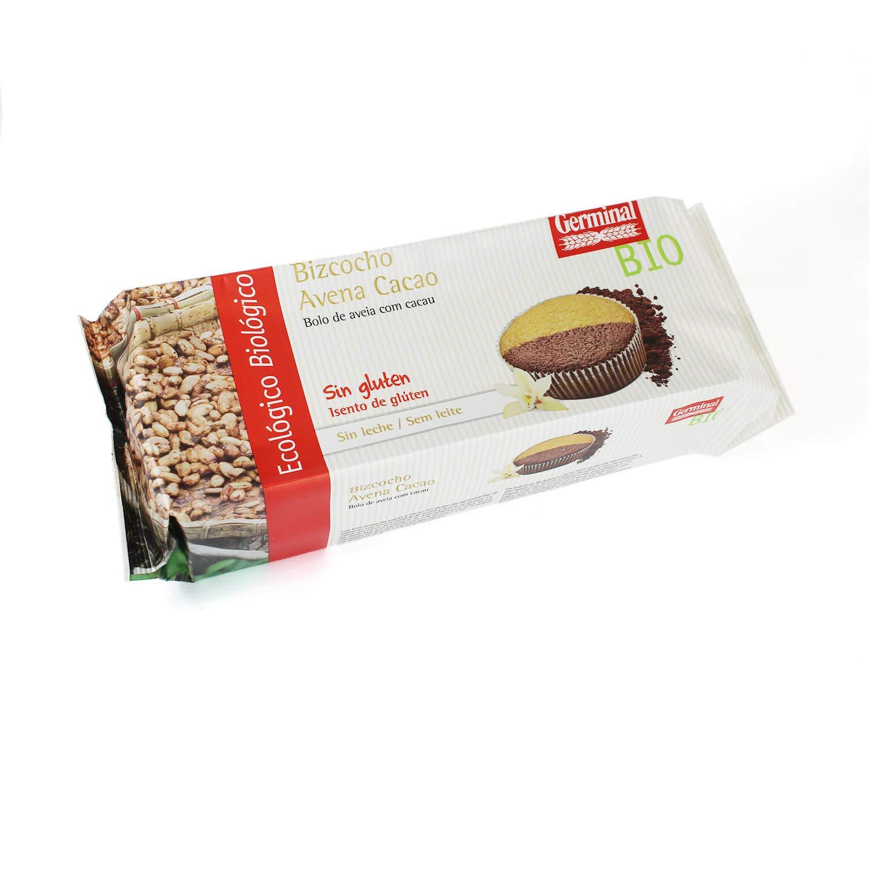Bizcocho de avena y cacao sin gluten - Germinal - 180g: Amazon.es ...