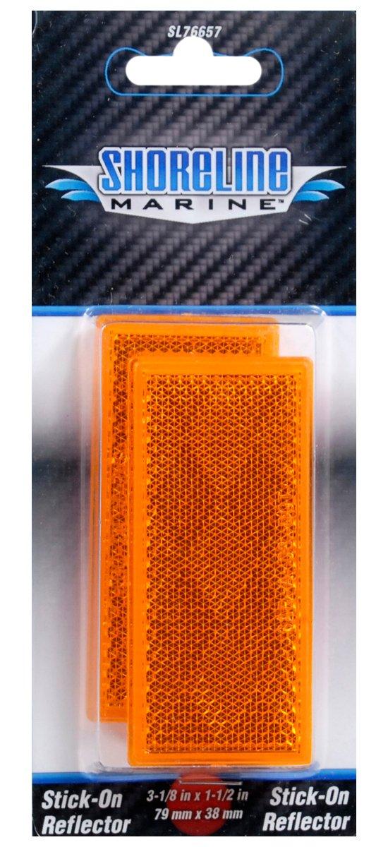 Shoreline Marine Stick-On Trailer Reflector, Amber South Bend Sporting Goods SL76657