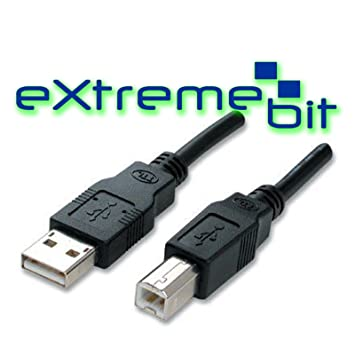 Cable USB macho AM to BM para impresora escáner Disco Duro 5 ...