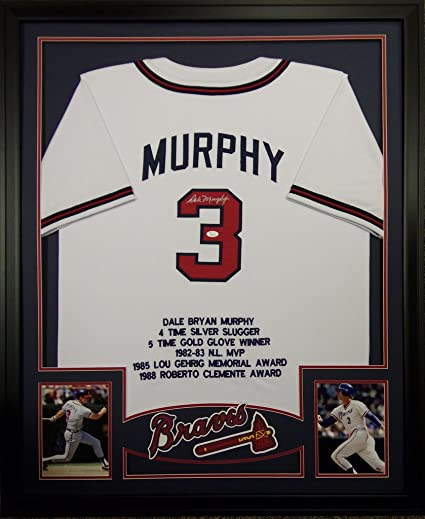 Dale Murphy Framed Stat Jersey Signed JSA COA Autographed Atlanta ...