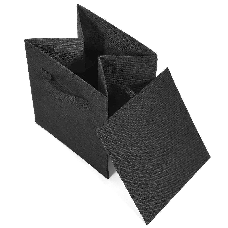 Gris,28 Cajas Almacenaje Rectangular y Cajas Organizadoras Resistente para Estante y Armario YOOFAN 1PCS Caja de Almacenamiento Sin Tapa 28cm 28