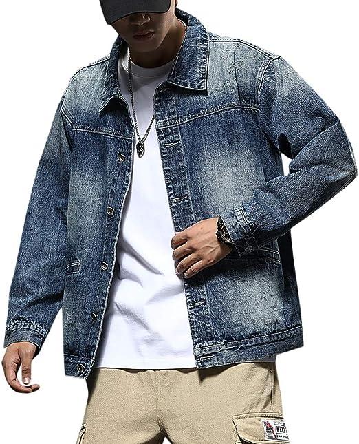 [Mirroryou(ミラーユー)] デニムジャケット メンズ 長袖 ジージャン 黒 カジュアル アウター ジーンズ Gジャン おしゃれ 大きいサイズ