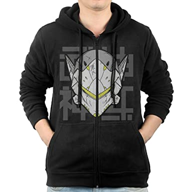 0e09d7ba9 Men Genji Overwatch Hoodie Pullover Zip Up at Amazon Men's Clothing store: