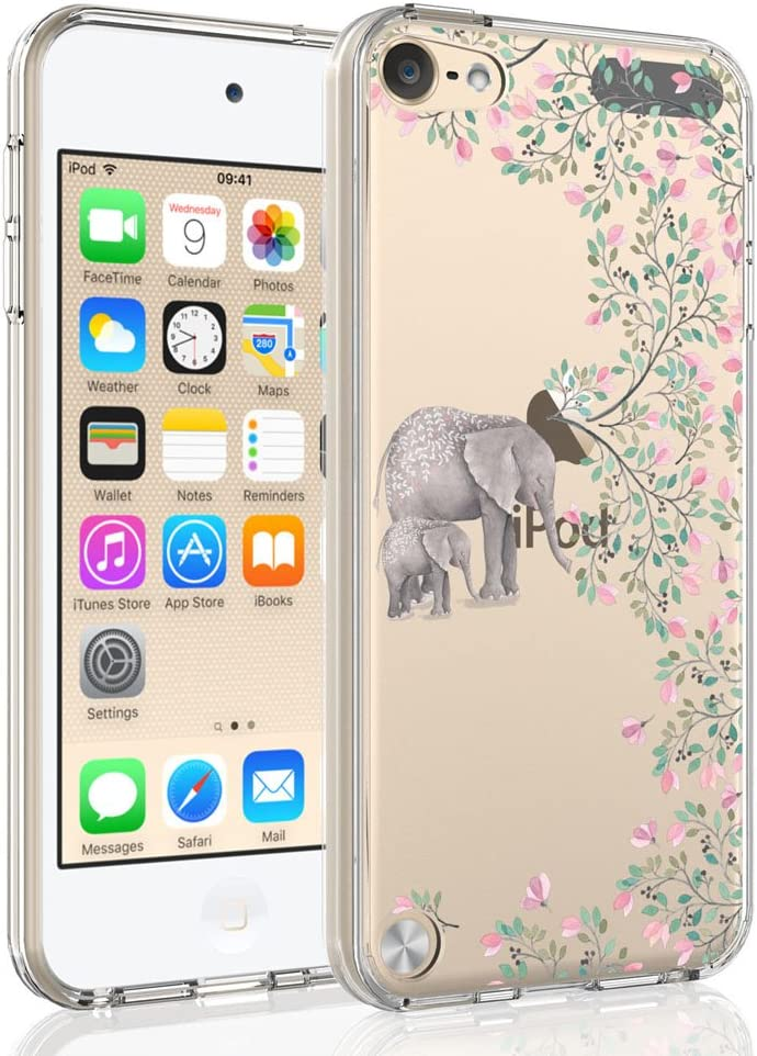 SYONER Clear Phone Case Cover for Apple iPod Touch 2019 / iPod Touch 7 / iPod Touch 6 / iPod Touch 5 [Elephant]