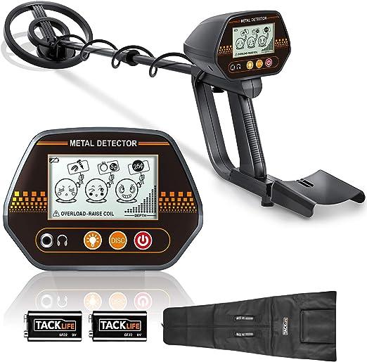 TACKLIFE Detector de Metales, 3 Tono de Audio y Modo Disco, con ...
