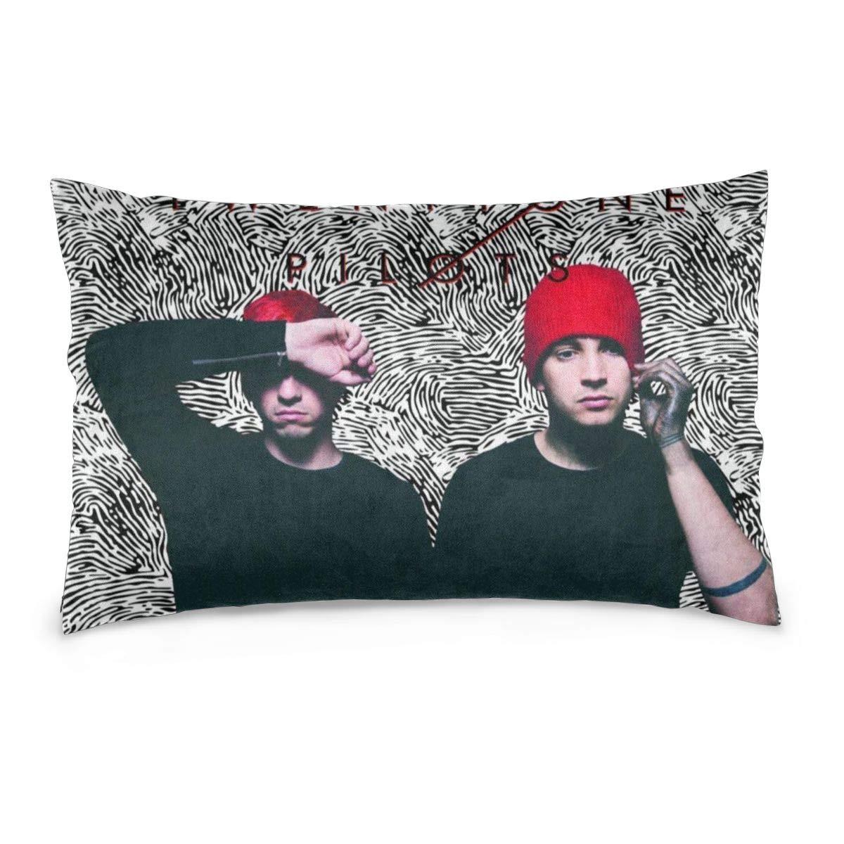 Menhfb Pillowcase Twenty One Singer Pilots Pillow Throw Cushion Cover Home Sofa Bed Decoration