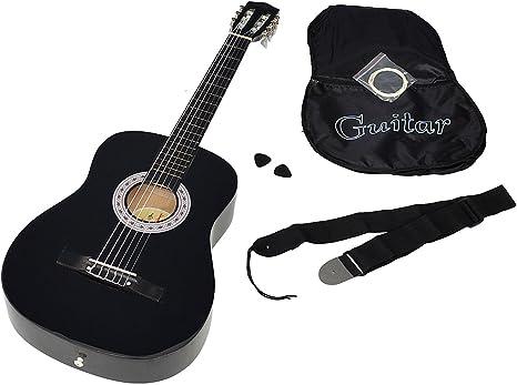 ts-ideen 5263 - Guitarra acústica clásica (incluye funda, correa ...
