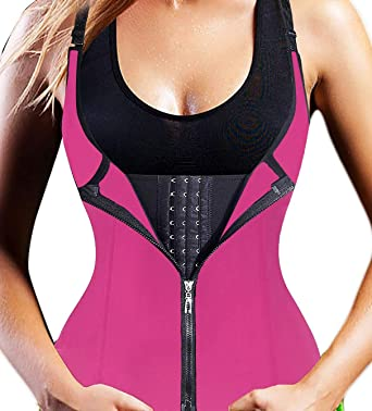 adec42f3614 Slimmkiss Women s Underbust Corset Waist Trainer Cincher Steel Boned Body  Shaper Vest with Adjustable Straps