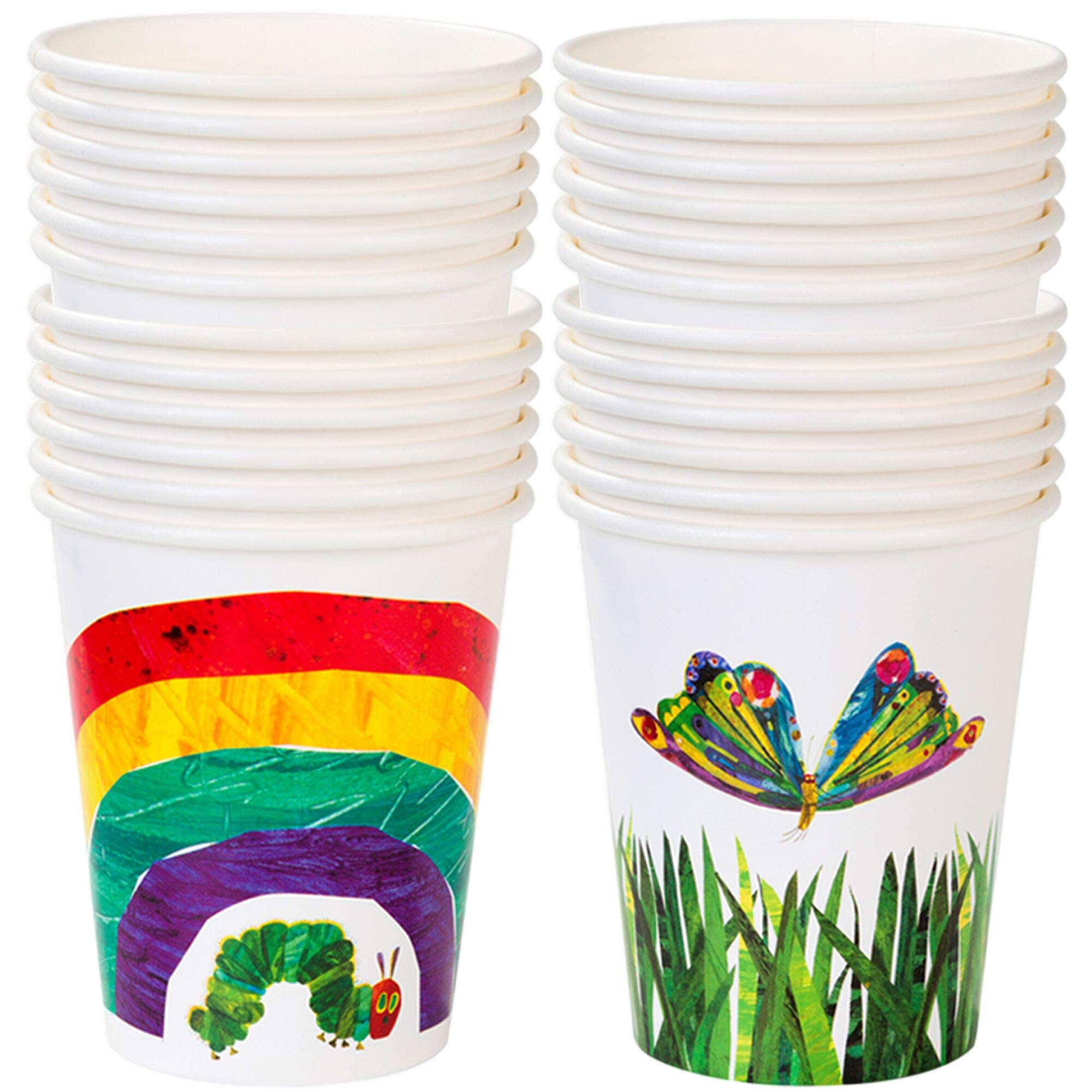 Talking Tables The Very Hungry Caterpillar Kids Birthday Paper Cup (24 Pack), 4, Green by Talking Tables