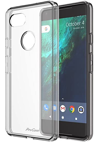 buy online 39bb5 36310 ProCase Google Pixel 2 XL Case Clear, Slim Hybrid Crystal Clear Cover  Protective Case for Google Pixel 2 XL 2017 -Clear