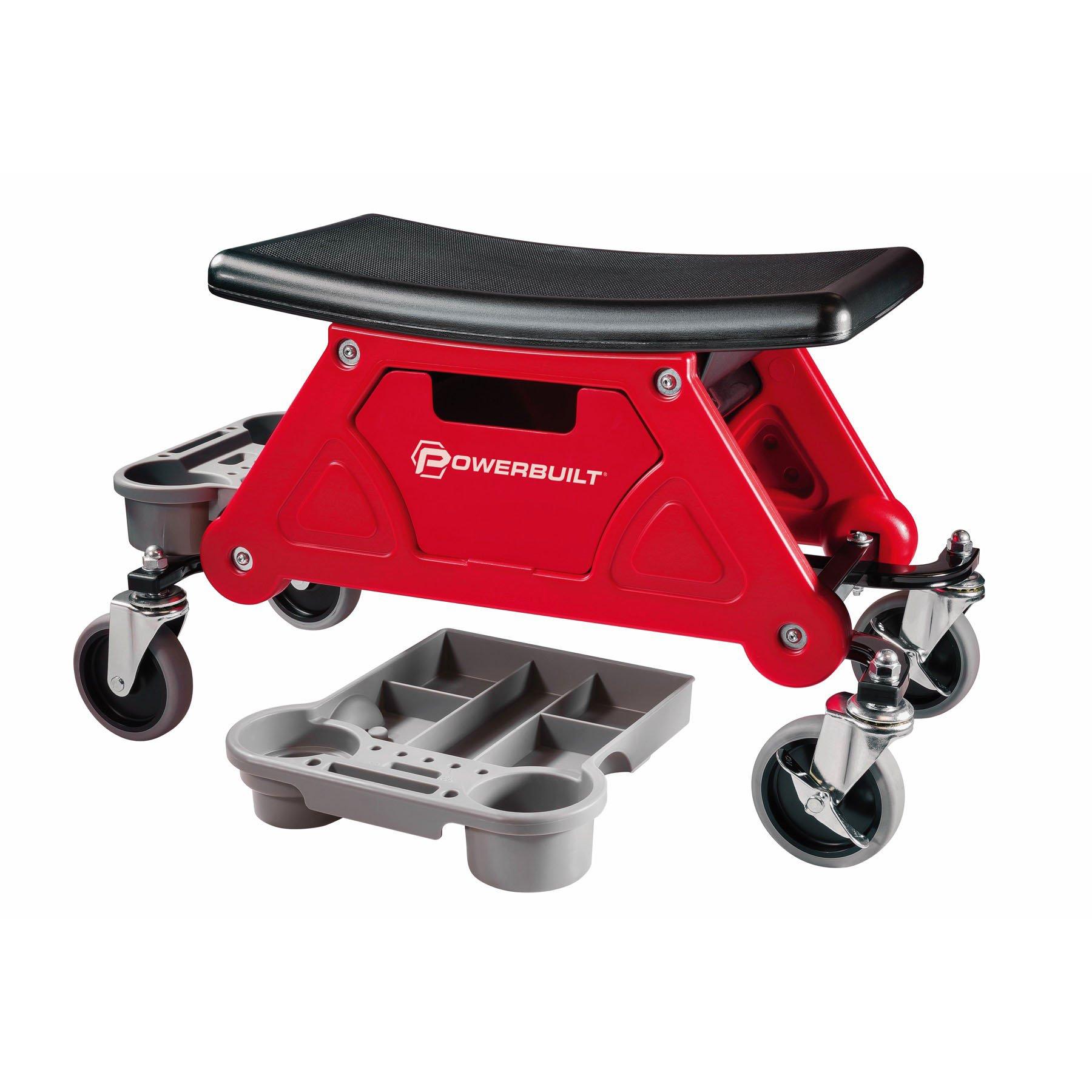 Powerbuilt Heavy Duty Rolling Mechanics Seat Brake Stool 300lb Capacity - 240036 (Stool) by Powerbuilt (Image #2)