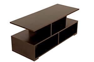 DeckUp Lexis Matte Finish Coffee Table (Dark Wenge)