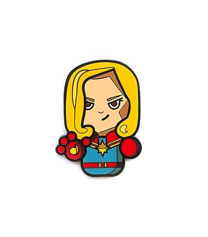 Captain Marvel Brooches Superhero Captain America Badge Women Cute Enamel Lapel Pin Denim Shirt Gift Online Discount Jewelry Sets & More