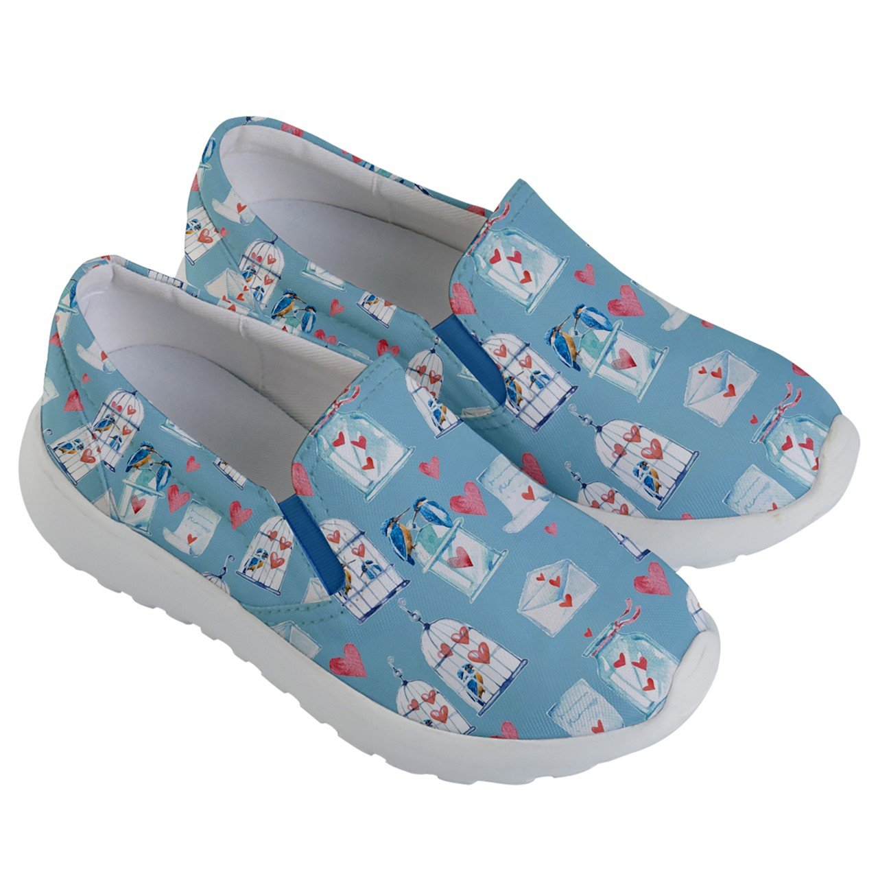 PattyCandy Kids & Toddlers Slip On Love Bird & Cage Lightweight Shoes-US 5.5Y by PattyCandy (Image #3)