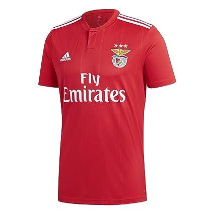 detailing 83f92 894c6 Amazon.com : adidas 2018-2019 Benfica Home Football Soccer T ...