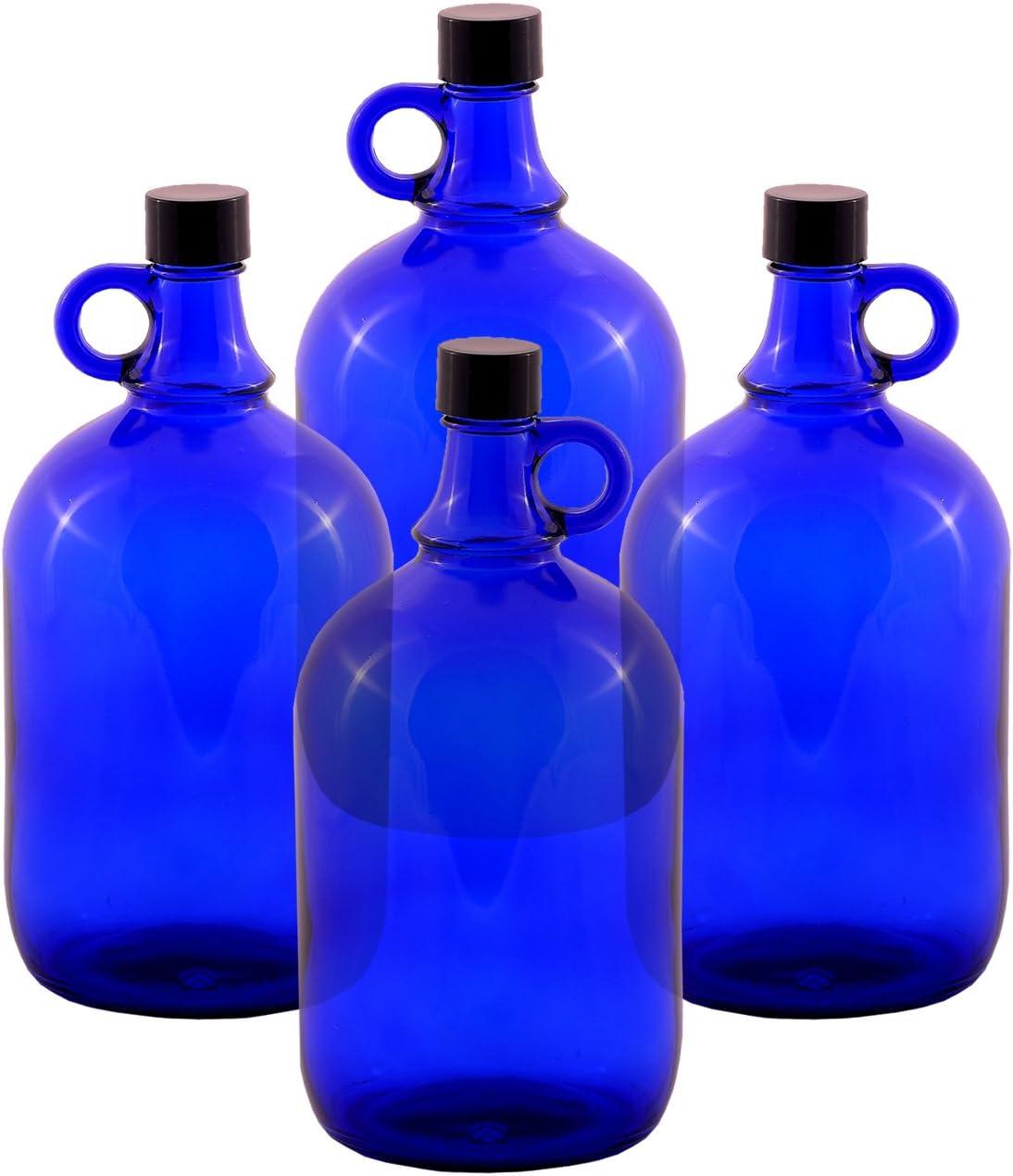 Botellas abombadas de cristal, tipo garrafa, azul, de 2 o de 5 ...