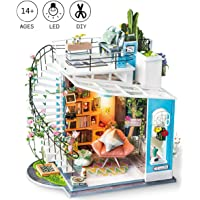 ROBOTIME Dollhouse with Furniture Wooden Miniature House Kit DIY Dora's Loft