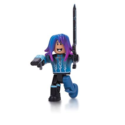Amazoncom Roblox Blue Lazer Parkour Runner Figure Pack Toys Games