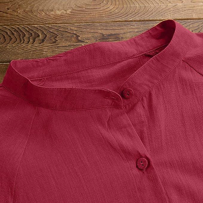 Beikoard Camisas Abotonadas para Mujer Blusa de Bolsillo ...