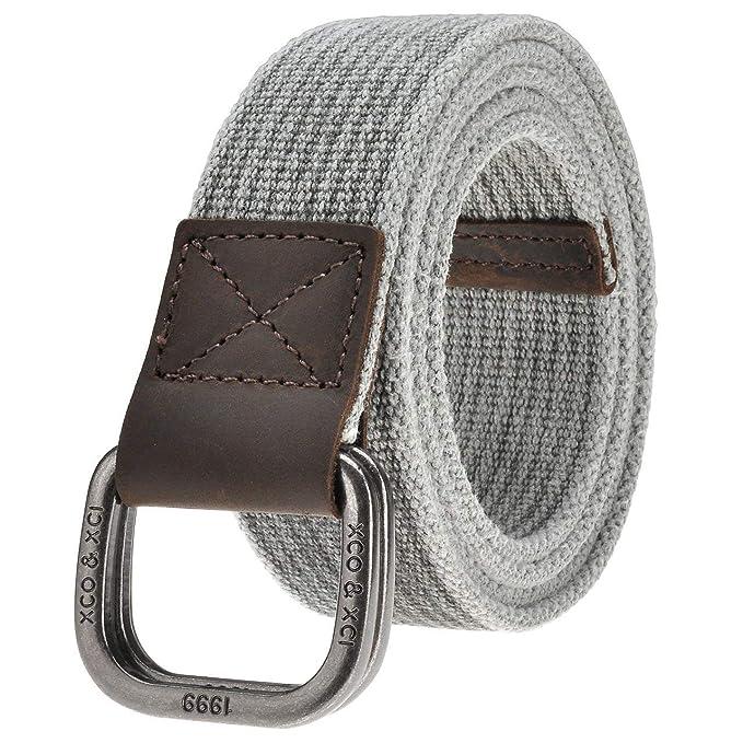 di alta qualità vendita outlet a piedi scatti di Elodiey Cintura Da Uomo Cintura In Tessuto Fibbia Doppia Con ...