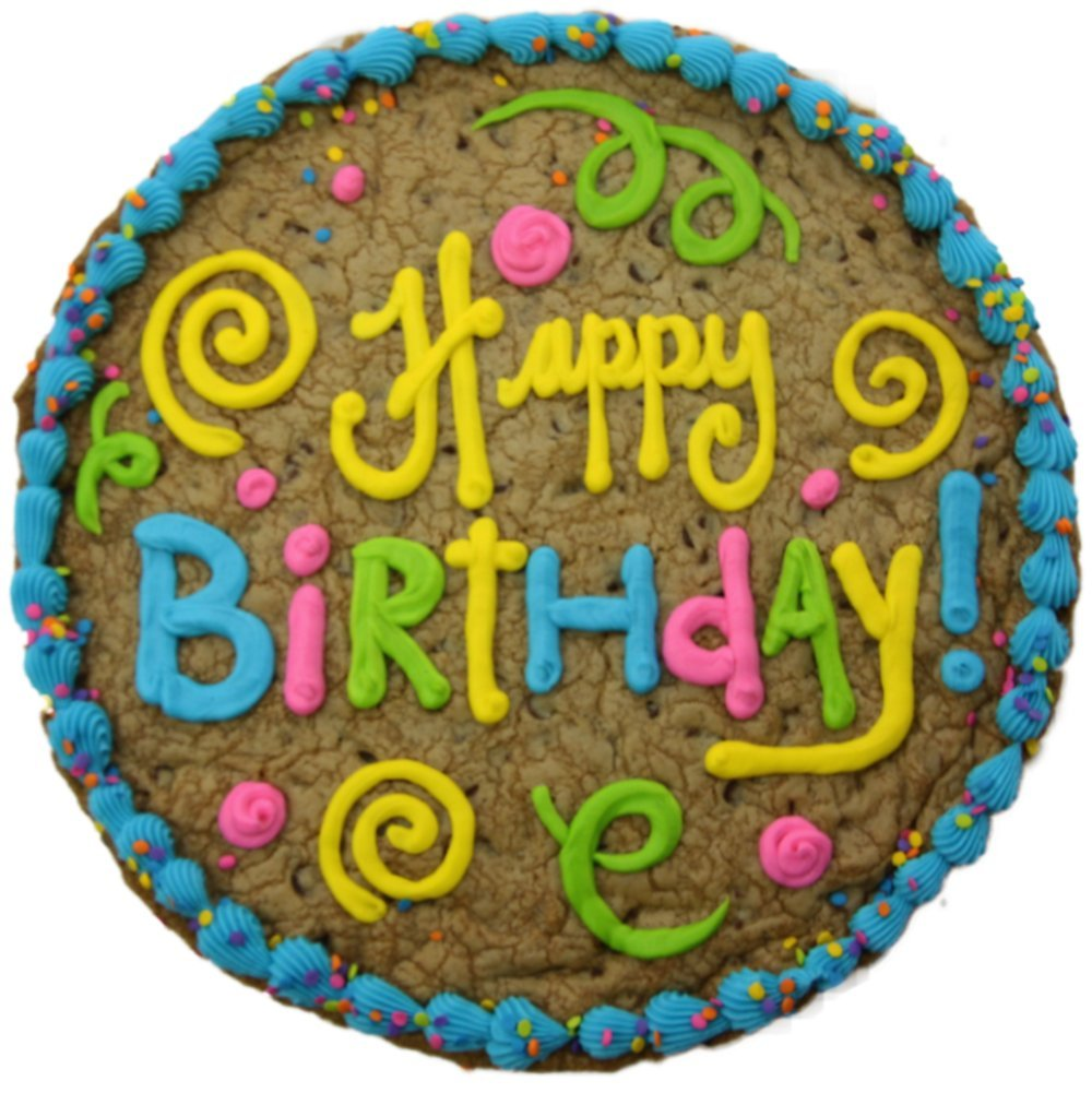 Amazon Triolos Bakery Happy Birthday Chocolate Chip Cookie Cake 12 Grocery Gourmet Food