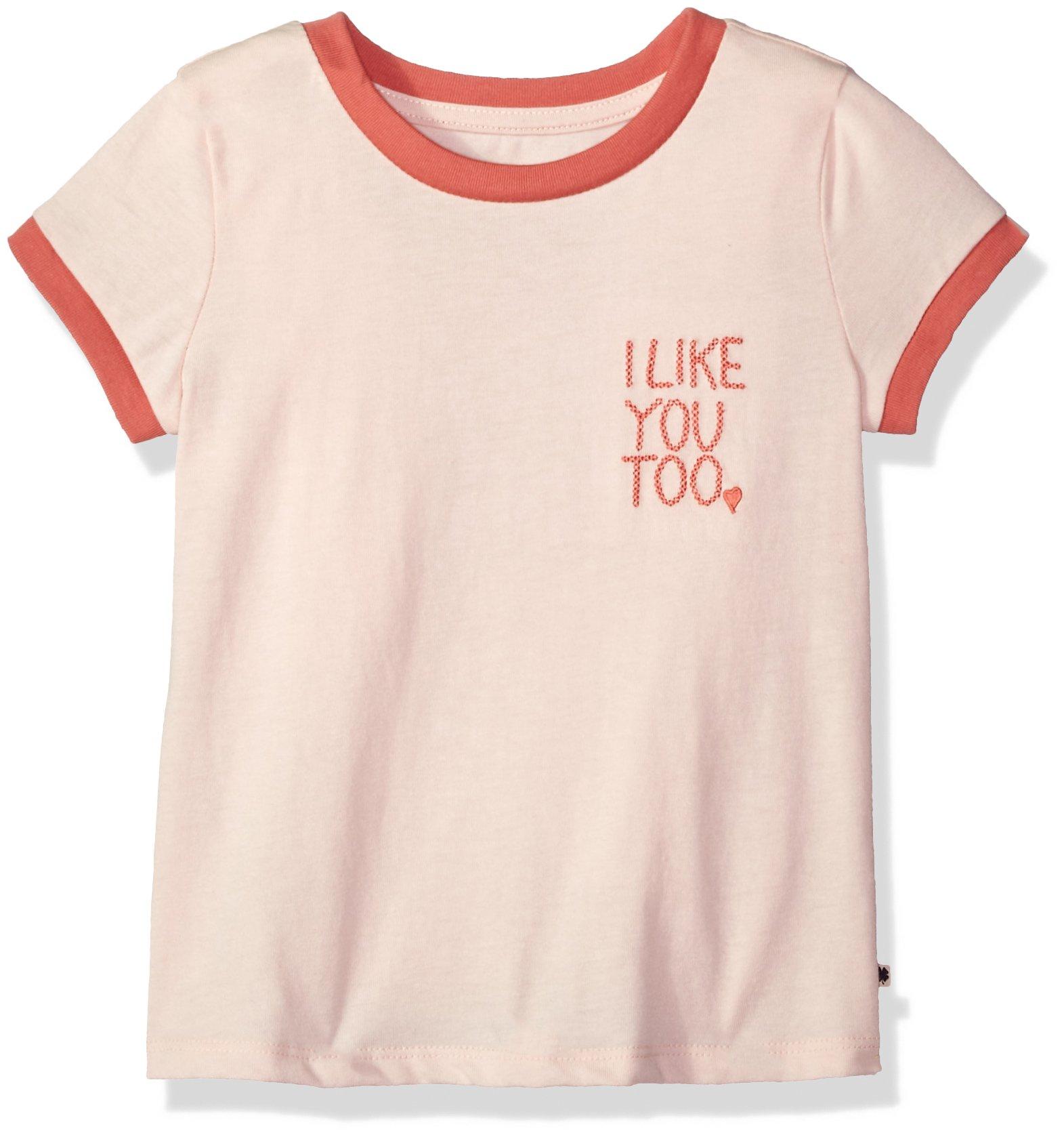 Lucky Brand Big Girls' Graphic Tee, Jocelyn Peach Blush, Medium (8/10)