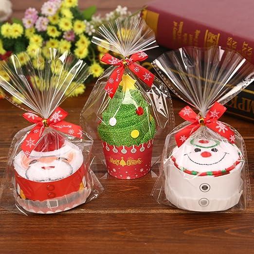 OULII Pastel de algodón de Navidad toalla pastel modelado Regalo Chic para la decoración de Navidad (Santa Claus): Amazon.es: Hogar