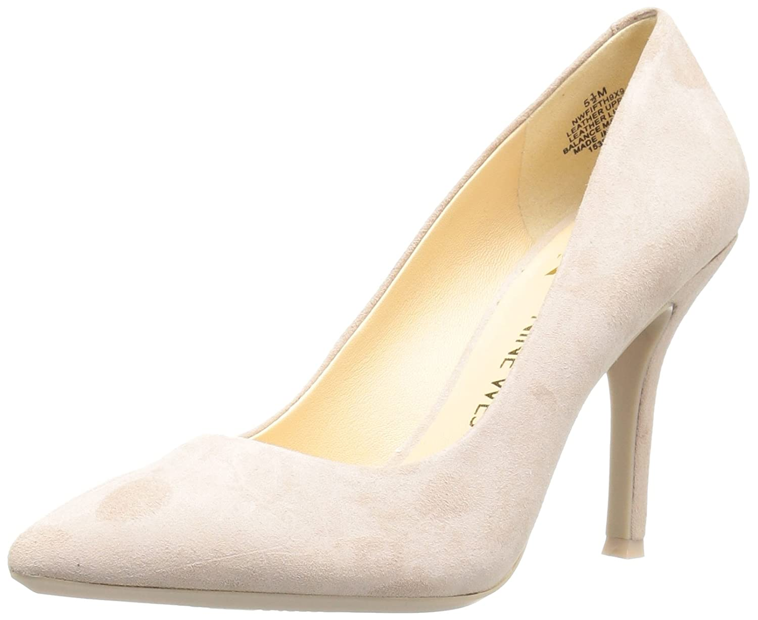 Nine West Women's FIFTH9X Fifth Pointy Toe Pumps B01MYV760H 6 B(M) US|Natural Suede