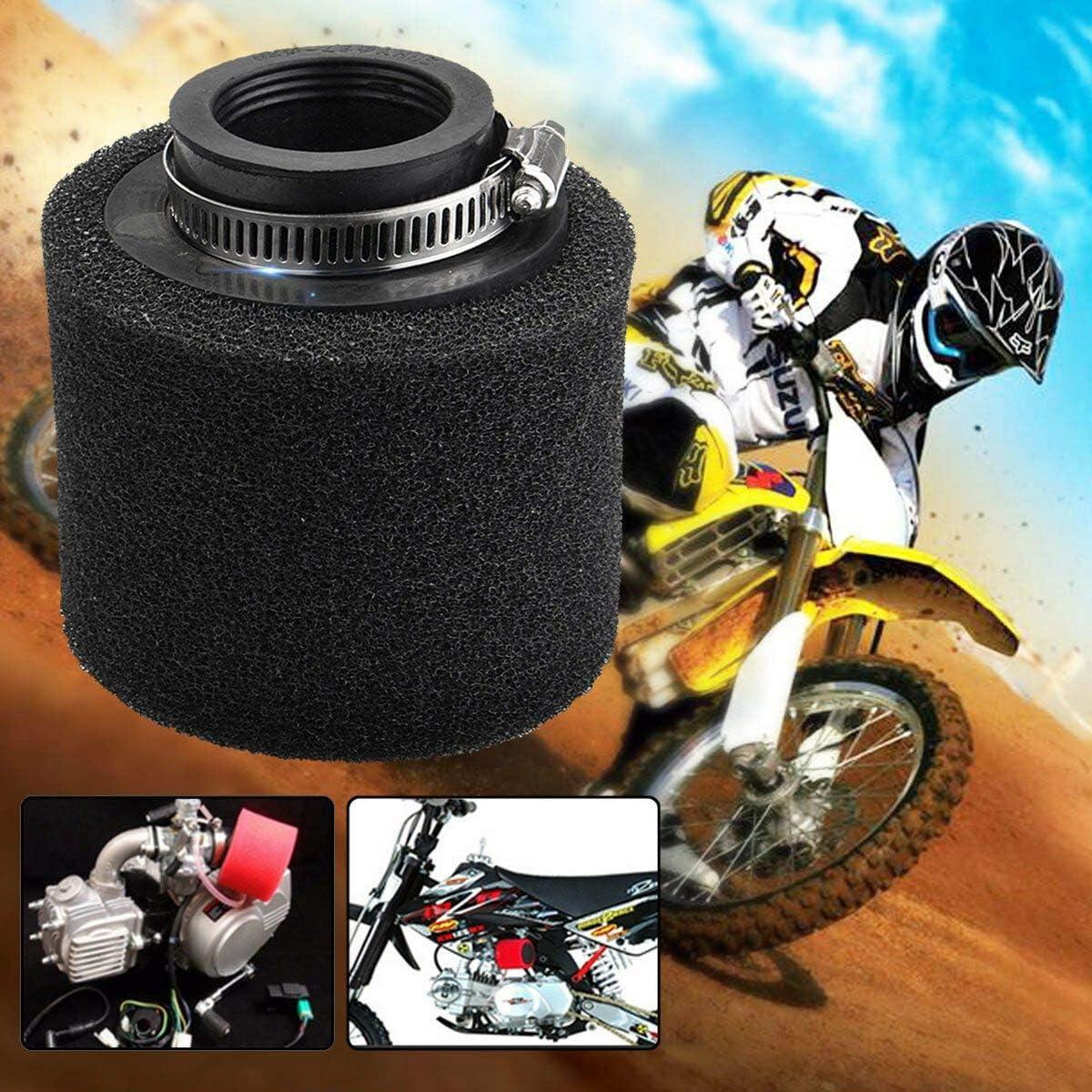 38 mm Kamenda Doppel-Schaumstoff-Luftfilter Schwarz 110 // 125 // 150 cc f/ür Pit Dirt Bike Quad ATV Buggy