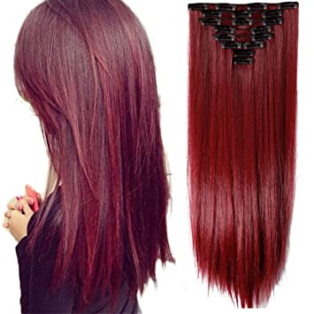 Amazon s noilite 8pcsset full head clip in hair extensions s noilite 8pcsset full head clip in hair extensions 140grams thick real natural pmusecretfo Gallery