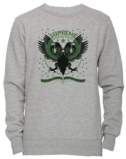 6b946a36ad1f Erido Supreme Unisex Men s Women s Jumper Sweatshirt Pullover Grey ...