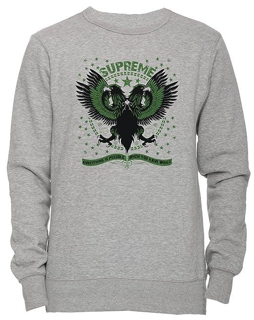 Erido Supreme Unisexo Hombre Mujer Sudadera Jersey Pullover Gris Todos Los Tamaños Unisex Mens Womens Jumper Sweatshirt Grey: Amazon.es: Ropa y accesorios