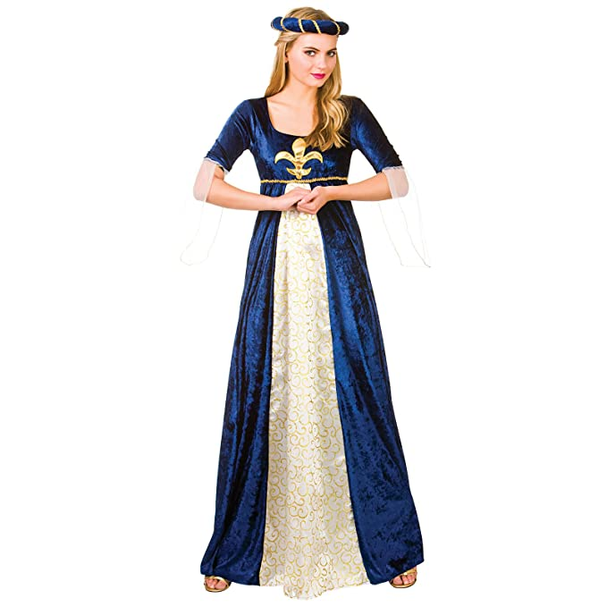 a69dc5a5d32 Ladies Medieval Maiden Historical Fancy Dress Up Party Halloween ...