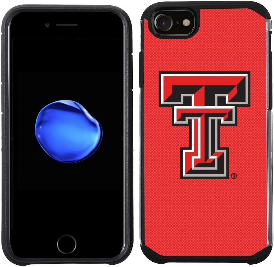 Prime Brands Group Textured Team Color Cell Phone Case for Apple iPhone 8//7//6S//6 NCAA Licensed Texas Tech University Red Raiders
