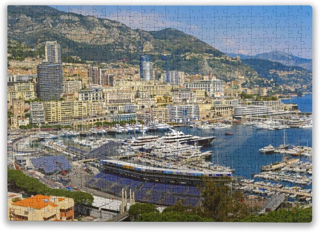 Jigsaw Puzzle for Adults Kids 500 Pieces Yacht Bay Mountains Puzzles Intellectual Decompressing Fun Family Game Large Puzzle Game Toys Gift for Family and Friends