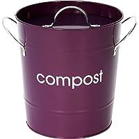 Premier Housewares - Cubo para compost, color púrpura