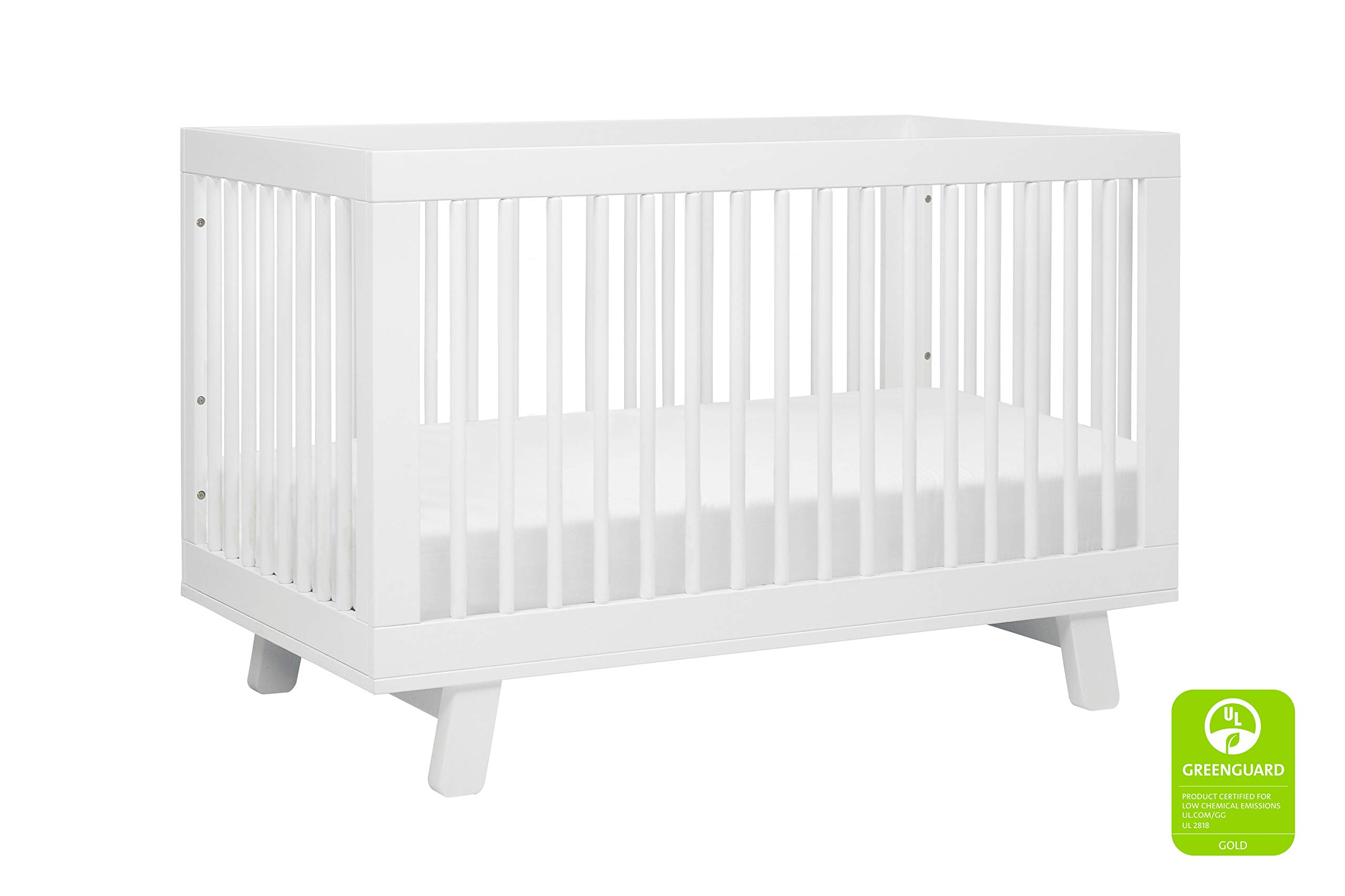 Babyletto Hudson 3-in-1 Convertible Crib with Toddler Bed Conversion Kit, White by Babyletto